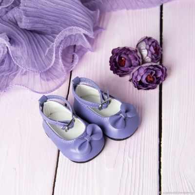 Заготовки и материалы для изготовления игрушки Pugovka Doll Туфли сиреневые, 7 см