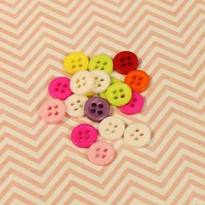 Заготовки и материалы для изготовления игрушки - Пуговицы мини, цветные 200 шт, микс