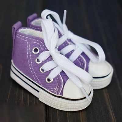 Обувь для кукол Тильда  7.5 см сиреневые кеды