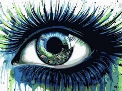 цена на Набор для рисования по номерам Цветной Me1093 Павлиний глаз