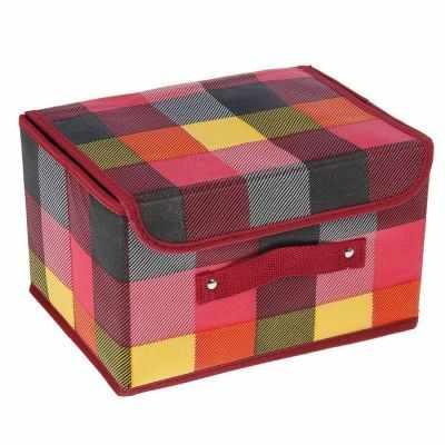 Органайзер Доляна 1550864 Короб для хранения, с крышкой 26х20х16 см