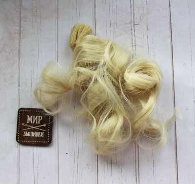 Заготовки и материалы для изготовления игрушки Pugovka Doll Волосы прямые 5 (блонд), 15 см