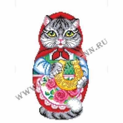Набор для вышивания Искусница м8163 Кошка матрешка