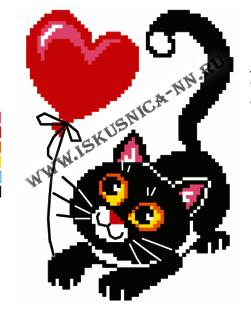 Набор для вышивания Искусница м8166 Черный кот набор для вышивания искусница м8166 черный кот