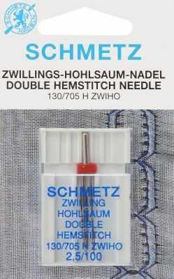Инструменты для шитья Schmetz Иглы для мережки двойные 130/705H ZWIHO № 100/2.5, 1 шт.