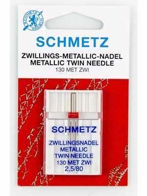 Инструменты для шитья Schmetz 0717373 Иглы для металлизированных нитей двойные 130 MET ZWI №80/2,5, 1 шт