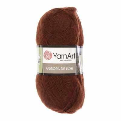 Купить со скидкой Пряжа YarnArt Angora De Luxe Цвет.3067 Коричневый
