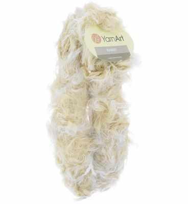 Пряжа YarnArt RABBIT Цвет.551 Белый-бежевый