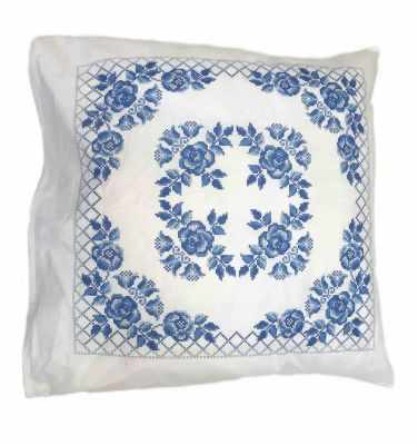 Набор для вышивания Каролинка ККПН (бязь) 04 Гжель- набор наволочка на подушку для вышивки крестом