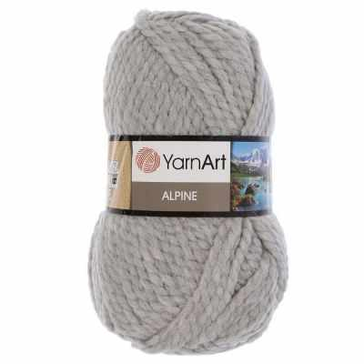 цена Пряжа YarnArt Пряжа YarnArt ALPINE Цвет.334 Светло серый онлайн в 2017 году