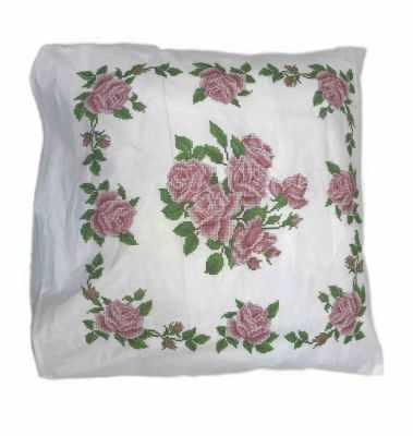 Набор для вышивания Каролинка ККПН (бязь) 03 Розы- набор наволочка на подушку для вышивки крестом
