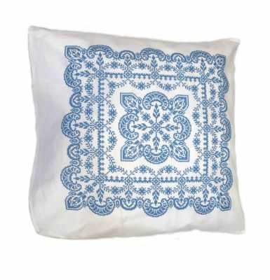 Набор для вышивания Каролинка ККПН (бязь) 02 Зимняя сказка- набор наволочка на подушку для вышивки крестом