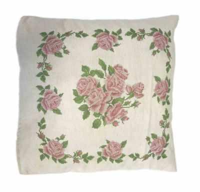 Набор для вышивания Каролинка ККПН (лен) 03 Розы- набор наволочка на подушку для вышивки крестом