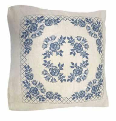 Набор для вышивания Каролинка ККПН (лен) 04 Гжель- набор наволочка на подушку для вышивки крестом