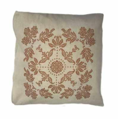 Набор для вышивания Каролинка ККПН (лен) 05 Узоры- набор наволочка на подушку для вышивки крестом