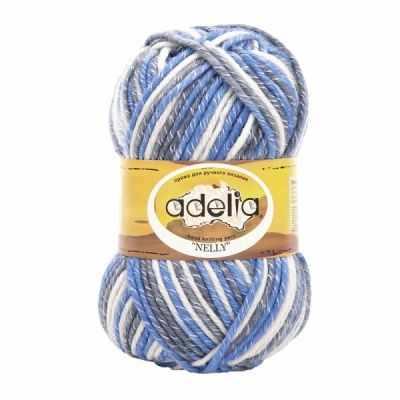 Пряжа Adelia NELLY 26 Св.серый-серый-голубой