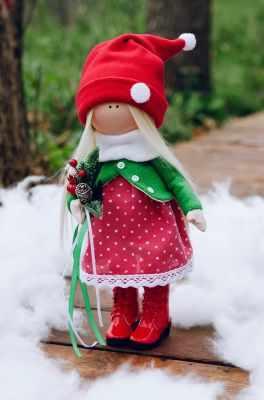 Набор для изготовления игрушки Pugovka Doll Набор Новый Год