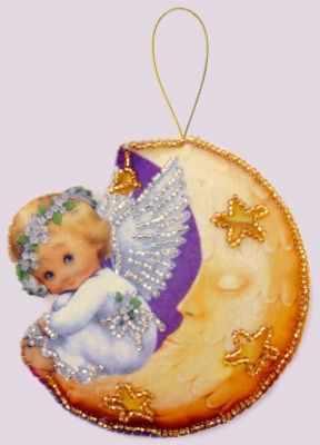 Набор для изготовления изделий из фетра Butterfly F137 Ангел на луне - Butterfly шнурок кожаный на шею 09001з