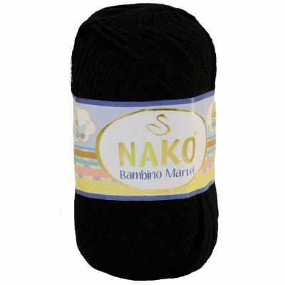 Пряжа Nako Пряжа Nako Bambino Marvel Цвет.9002 Черный