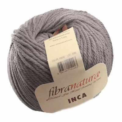 Пряжа Fibra Natura Пряжа Fibra Natura Inca Цвет.43030 Серый