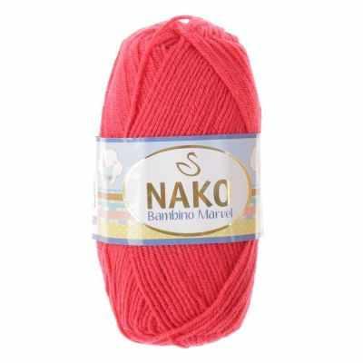 Пряжа Nako Пряжа Nako Bambino Marvel Цвет.9040 Малиновый