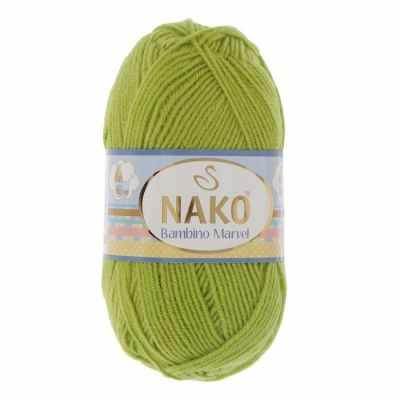 Пряжа Nako Пряжа Nako Bambino Marvel Цвет.9043 Салат