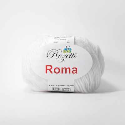 Пряжа Rozetti Пряжа Rozetti Roma Цвет.201-01 белый пряжа rozetti пряжа rozetti roma цвет 201 03 св беж