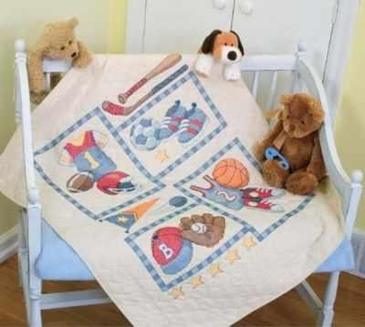 73255 DMS Лоскутное одеяло. Малыш в спорте