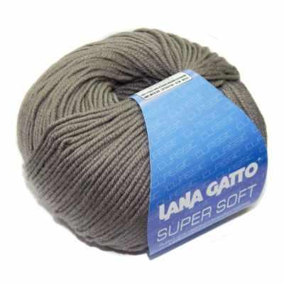 Пряжа Lana Gatto Пряжа Lana Gatto SUPER SOFT Цвет.13777 серобеж.