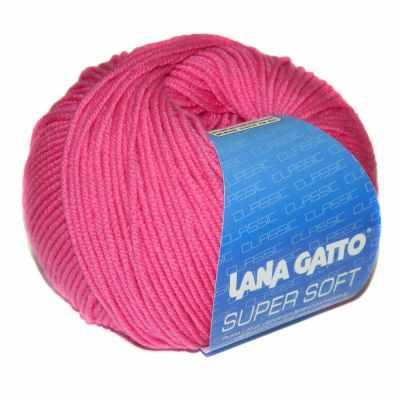Пряжа Lana Gatto Пряжа Lana Gatto SUPER SOFT Цвет.05286 фуксия