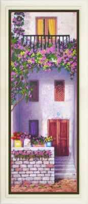 Набор для вышивания Картины бисером R-029 Цветущий балкон 2 - набор для вышивания
