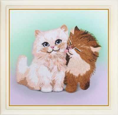 Набор для вышивания Картины бисером R-035 Кошачьи нежности - набор для вышивания
