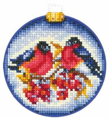 Набор для вышивания Сделай своими руками Н-24 Новогодние шары. Снегири
