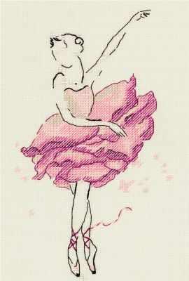 Набор для вышивания Panna C-7072 Балерина. Роза panna набор для вышивания panna балерина роза