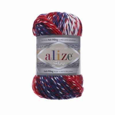 Пряжа Alize SHOW PUNTOBATIKDESIGN Цвет.6372 Синий-красный