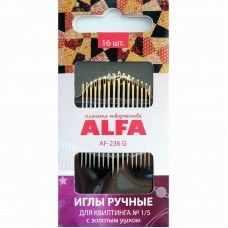 Иглыбулавки Alfa AF-236G Иглы ручные для квилтинга №1/5