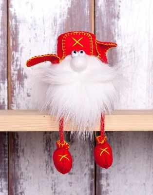 Набор для изготовления игрушки Перловка ПФГ-1554 Гном в ушанке - игрушка (Перловка)