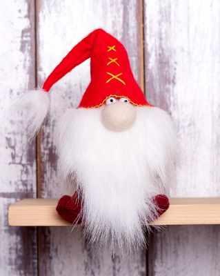 Набор для изготовления игрушки Перловка ПФГ-1551 Красный гном - игрушка (Перловка)