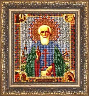Рама Мир Багета №38 Рамка для иконы Прп.Сергий Радонежский 19,2х23,6 Арт 829-107