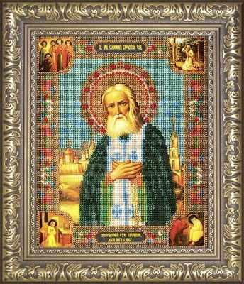 Рама Мир Багета №27 Рамка для иконы Серафим Саровский, 19,9х24,4 Арт 829-199