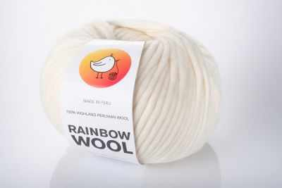 Пряжа RAINBOW BIRD Пряжа RAINBOW BIRD RAINBOW WOOL Цвет.Starwhite