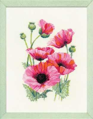 Набор для вышивания Риолис (Сотвори Сама) 1775 Розовые маки риолис набор для вышивания 1775 розовые маки