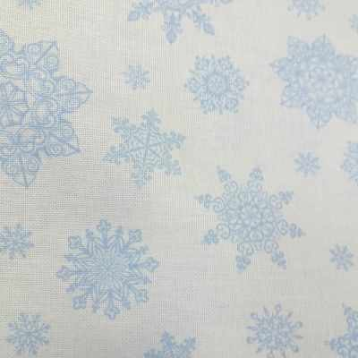 Канва Беларусь 786 (802) Белорусская равномерка голубые снежинки