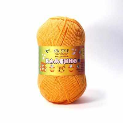 Пряжа Камтекс Пряжа Камтекс Бамбино Цвет.35 Оранжевый