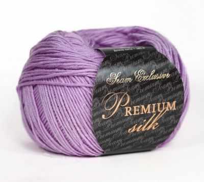 Пряжа Seam Пряжа Seam Premium Silk Цвет.15 сирень