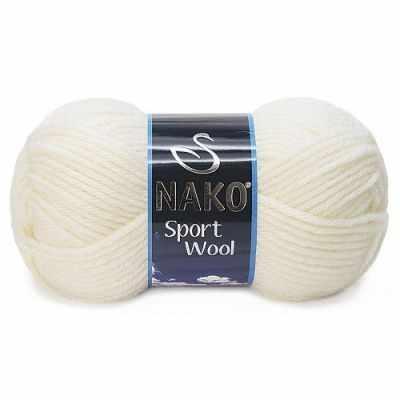 Пряжа Nako Пряжа Nako Sport Wool Цвет.300 Молочный