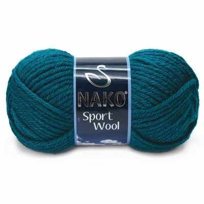 Пряжа Nako Пряжа Nako Sport Wool Цвет.2273 Морская волна