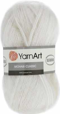 Пряжа YarnArt Пряжа YarnArt Mohair Classic Цвет.1003 Молочный