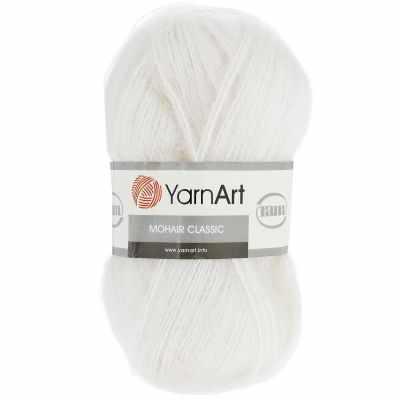 Пряжа YarnArt Пряжа YarnArt Mohair Classic Цвет.101 Белый