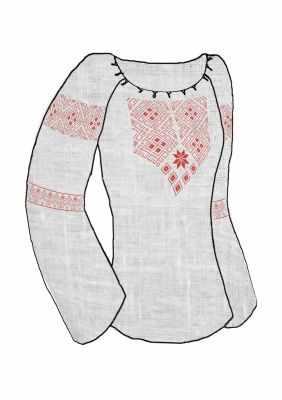 цена на Заготовка для вышиванки Каролинка КБСН/лен/-08 Крой 48-54 р Набор для вышивки сорочки (Каролинка)